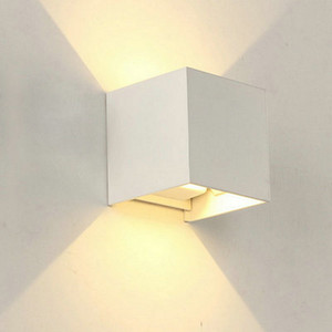 6W LED 12W Outdoor Wall Light Up Down IP65 Sconce Blanc Noir moderne étanche mur lampe 220 V 110 V luminaires Extérieur Éclairage