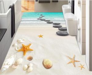 adhesivos para pisos de vinilo Coast beach 3d flooring para living y dormitorio