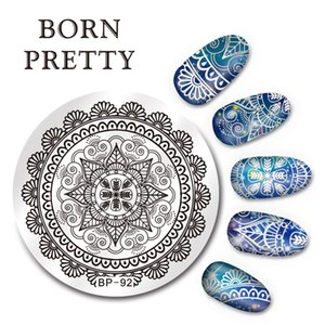 BORN 5,5 centimetri PRETTY rotonda nail art timbro Modello Arabesque design del piatto di immagine BP-92