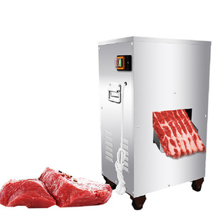 Beijamei 2018 Powerful 2200W 300KG H meat cutting machine commercial vertical meat slicer cutter machine price