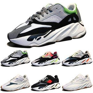 Discount Kanye West Wave Runner 700 Boots Grey Running Shoes for men 700s womens mens Sports Sneakers trainers outdoor designer Causal shoes
