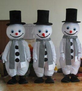 Christmas snowman Mascot Costumes Animated theme gentleman snow man Cospaly Personaggio mascotte dei cartoni animati Costume di Carnevale di Halloween