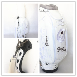 2018 Send Arrive Brand White Putter Bag Quality Sale High Men Women Waterproof Limite Pu Leather Standard Headcovers Bag Free Ball New Xong