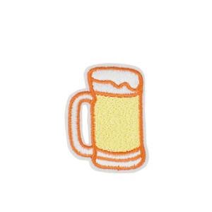 10 UNIDS Diy Stripe Sew Stitchwork Clothing Glass of Beer Parches para la chaqueta Barato Bordado Parches para la Ropa Accesorios Pegatinas Parche