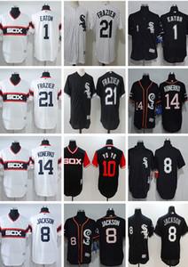 Donne Uomini personalizzato giovanile Majestic White Sox Jersey # 1 Adam Eaton 8 Bo Jackson 14 Paul Konerko 21 Todd Frazier Throwbacks pullover di baseball