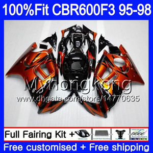 Injection pour HONDA CBR600RR CBR 600F3 CBR600F3 95 96 97 98 2MY.0 CBR600FS CBR600 F3 FS CBR 600 F3 1995 1996 1997 1998 Carénage Orange noir