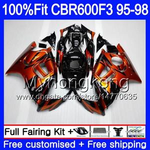 حقن 600F3 CBR600RR CBR هوندا F3 95 CBR600F3 97 98 600 1995 1996 F3 FS CBR 2MY.0 96 CBR600FS Black CBR600 1998 Fairing Orange Buim