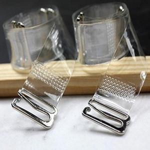 MOONBIFFY 3Pairs = 6Pc Reggiseno con fibbia in metallo Cintura da donna Reggiseno in silicone trasparente con elastico Regolabile Baldric