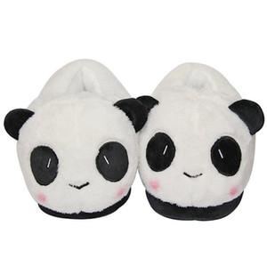 ciabatte all-inclusive di panda del fumetto pantofole in peluche di cotone da casa ciabattine in peluche coppia indoor