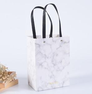 Высококачественный мраморный узор выпечки подарочная сумка благословение свадьба сумка одежда коробка печенья упаковка мешок может печатать logo13 * 14*8 см