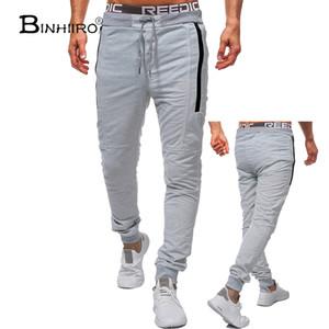 BINHIIRO 2018 Verão de Moda de Nova seção fina calças casuais calças Jogger Musculação Academia Sweat tempo limitado Sweatpants
