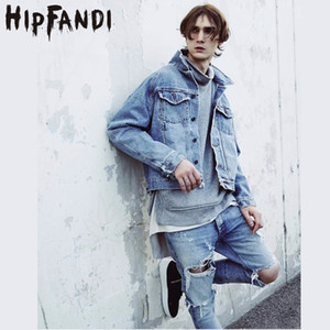 HIPFANDI Europa E Stati Uniti High Street Cowboy Blockbuster Tannino Materiale Giacca Denim Wash Water Rock Punk Coat