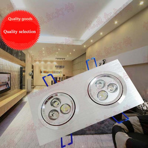 LED Salon Spotlight Place Downlight 6W LED Grille Lumière 9W Supermarket Shopping Mall Magasin de vêtements