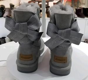 2018 Estilo Clássico de inverno mulheres thread costura Botas de neve 100% real pele de couro Plataforma EVA Sola botas flat Eu35-41