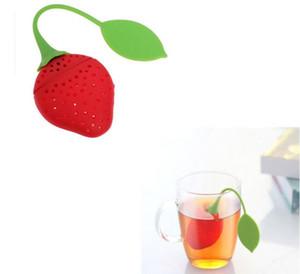Sacchetto di riempimento del tè del riempitore del tè del riempitore del tè del silicone del setaccio dell'infusore del silicone di forma fragola SN119