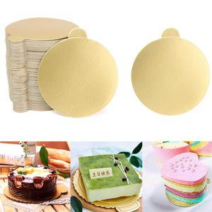 Золотой мусс картонная основа мусс торт доски бумаги кекс десерт лоток Pad держатель прямоугольный базовый совет выпечки инструменты 100 шт./лот