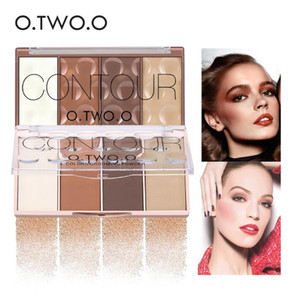 O.TWO.O Baking Blush with Puff Waterproof Contour Bronzer Highlighters Shading Grooming Blushher Powder Makeup Palette