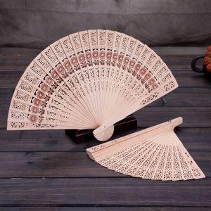 DHL Пользовательские Китайский Сандал Ароматические вентиляторы Деревянный Ажурный ремесленный вентилятор личный Ручной Складной Вентиляторы для Свадебный подарок День Рождения Home Decor