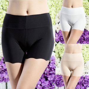 New Soft Comfortable Culotte Sexy Meryl Lingerie Boxer Seamless Mid Waist Underwear Women Safety Pants 3 Colors
