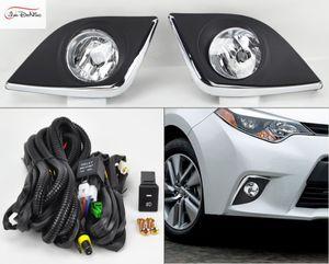 Luzes de nevoeiro do carro para TOYOTA Corolla 2014-2016 (EUA TIPO) lâmpada de Halogéneo H11-12V 55 W Luzes de Nevoeiro Da Frente Bumper Bumper Kit Lâmpadas