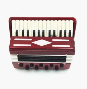 Nuevo 1:12 Casa de Muñecas de Madera Acordeón Colección de Educación de Aprendizaje en miniatura Accesorio de Instrumentos Musicales Regalo Creativo Juguete de los niños