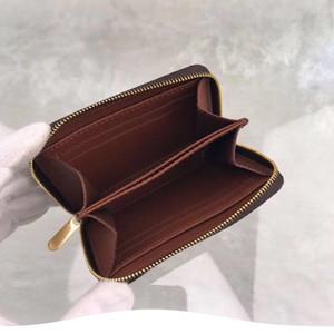 Portafoglio corto in pelle di design originale all'ingrosso Portafogli da donna portamonete con chiusura a zip