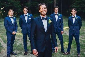 Slim Fit Mens Business Suit Jacket + Pants Handsome Men's Suits Custom Made Spring 2019 Hot Sell Wedding Suits Groom Ebelz