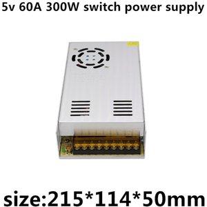 AC110v-220v DC 5 v 60A 300 W 5 v levou tela de exibição aparelho de exibição de energia suficiente fonte de alimentação interruptor de alta qualidade