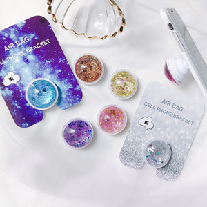 Fancy Colorful Liquid Glitter Tablets Soporte para teléfono para iphone XS Max XR 7 8 más Xiaomi Huawei Samsung Dremshell bling Grip Mount Stand