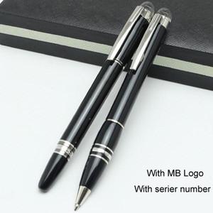 Serie de alta calidad negro resina rollerball pen MB bolígrafos con cabeza de cristal bolígrafo mb marca de lujo vendedor caliente de la escritura de plumas de regalo