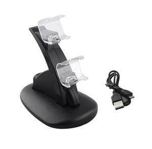 ALLOYSEED LED Dual Controller Зарядное устройство + Micro USB кабель для зарядки Зарядка для док-станции Подставка для Sony Playstation 4 PS4