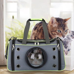 Dog Cat Carrier Space Capsule Shape Borsa traspirante Space Capsule Astronaut Pet Cat Zaino Finestra a bolle per gattino Cucciolo Chihuahua VB