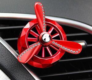 Ambientador de aire para autos Perfume acondicionador Outlet Ambientador Clip-on Aroma de 3 hélices Respiraderos para autos Fragancia para ambientadores de aire