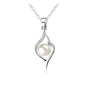 Luckyshine 6Pc / lot Feu Rond Blanc Cubique Zircone Gemmes 925 Pendentifs En Argent Sterling De Mariage Fiançailles Perle Pendentifs Colliers