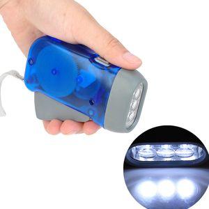 NOVA Mão Manivela Lanterna Sem Bateria Luzes de Acampamento 3 LEDs Mão Pressionando Lanterna Manual Gerador Viajando Luz Da Tocha