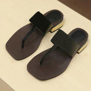 Pantofole da donna in pelle da donna di alta qualità, sandali firmati da donna, suola, scarpe basse da donna di alta gamma