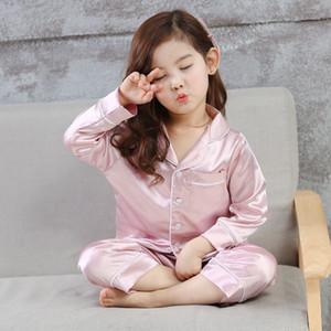 Новый тип детской пижамы из искусственной шелковой ткани с нейтральным полом подходит для больших детей