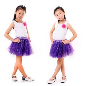 2T الاطفال فتاة ستار بريق الرقص توتو تنورة الترتر مع 3 طبقات تول طفل فتاة الشيفون Pettiskrit