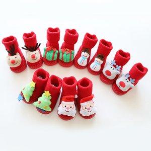 Bebek Çorap Noel Elk Toddler Kat Çorap Kapalı Walker Ayakkabı Kış Bebek kaymaz Sıcak Kalın Karikatür Çorap