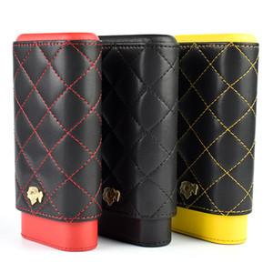 Humidor Cohiba madera maciza de piel hidratante cigaratte Conjunto 3 tubos de pequeño cajas de puros caja de cigarros portátil