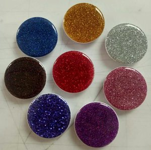 10pcs Glitter Cell Phone Holder With OPP BAG Blue Retail Package 3M Glue Air Bag Grip Stand 360 Degree Finger Holder