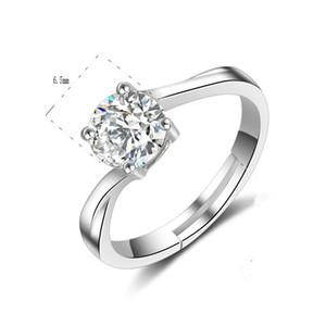 2018 новый США GIA сертификат новый дизайн площади вырезать австрийский Кристалл обручальные кольца ювелирные изделия для женщин