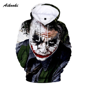 Aikooki New Joker Sweatshirts Men Brand Hoodies Men Joker Suicide Squad Deadshot 3D Printing Hoodie Male Casual Tracksuits Tops
