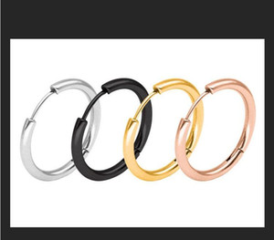 Wholesale stainless steel sleeper Hoop Earrings Rose gold ear hoop for Men and Women