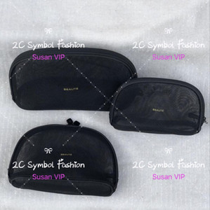 Set von 3 Taschen (Preis für 3 Taschen) Mode Frauen Transparent Mesh coreatics Veranstalter Marke Make-up Taschen Luxus Designer Handtasche Zähler Geschenk