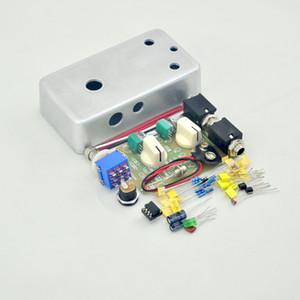 Nwe DIY Handmade Compressor pedal efeito kit full metal pedais de guitarra stompbox pré-perfurados Kit