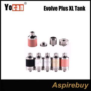 100% D'origine Authentique Yocan Evolve Plus XL Réservoir 5 Couleurs avec avec QUAD Bobine E Cigarette Cire Vaporisateur Vape Réservoir avec Flux D'air Bas