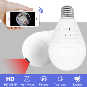 Luce 960P Wireless Panoramica Home Security WiFi CCTV Fisheye Lampada IP Telecamera a 360 gradi ONVIF Visione notturna YITUO