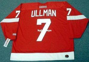 Personalizado Mens NORM ULLMAN Detroit Red Wings CCM Inicio Barato Retro Hockey Jersey