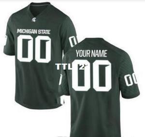 CUSTOM Mens, Youth, women, toddler, Michigan State Spartans personalizó CUALQUIER NOMBRE Y NÚMERO CUALQUIER TAMAÑO Jersey de colegio de calidad superior cosido